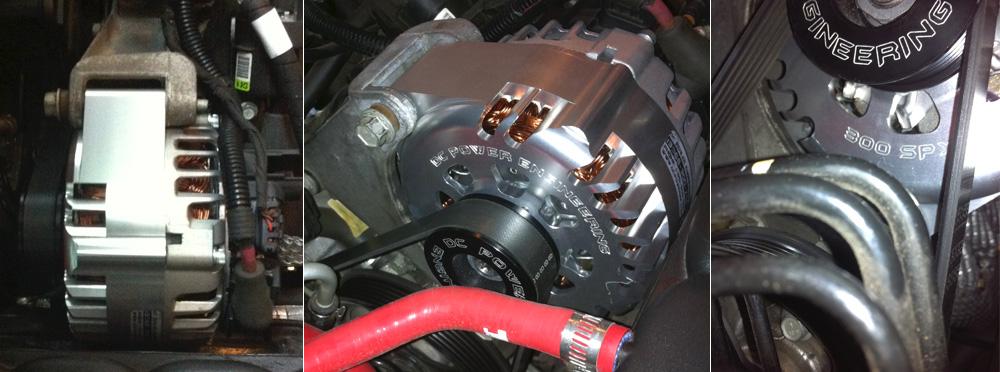 DC Power 300 Amp High Output Alternator   CamHughes com