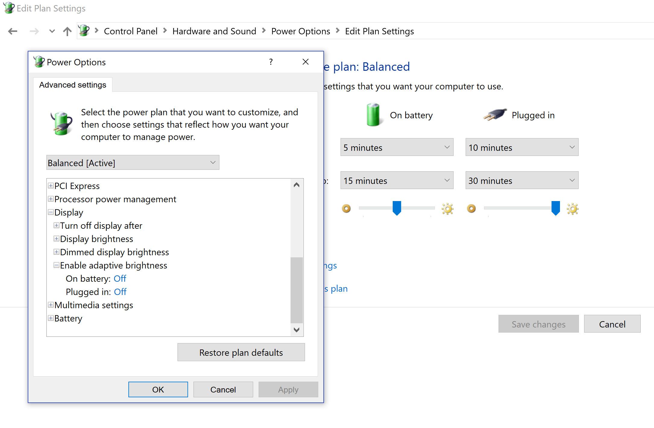 Razer Blade / Windows 10 Adaptive Brightness Problem